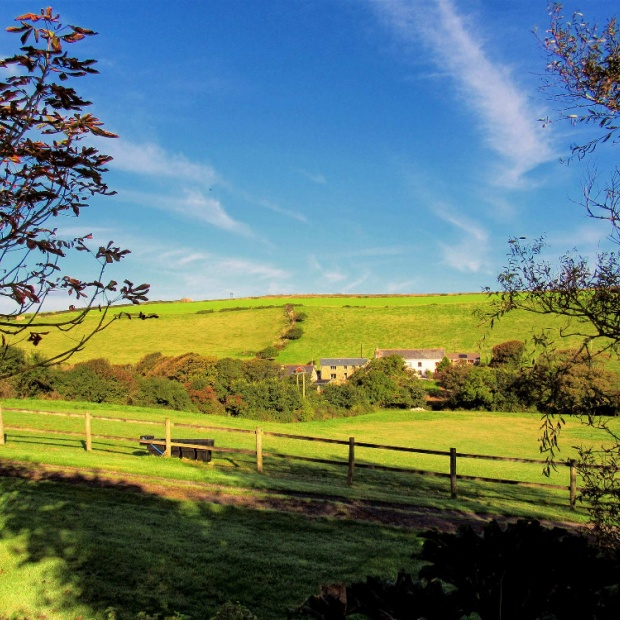 Stunning Countryside Views from the Communal Gardens of Hendra Paul Holiday Cottages Newquay